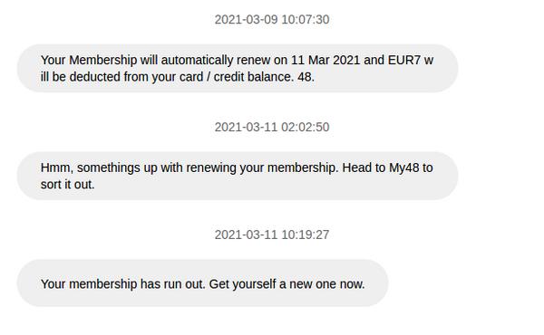 48's Broken Memberships.